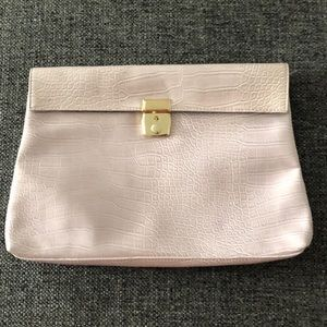 Light Pink Embossed Oversized Clutch